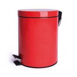Odpadkový koš s víkem a pedálem Complete Red 5 L