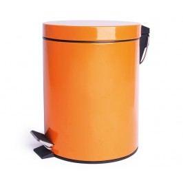Odpadkový koš s víkem a pedálem Complete Orange 12 L