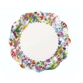 Sada 12 jednorázových talířů Flowers
