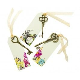 Sada 6 dekoračních klíčů se štítky Truly Alice Whimsical