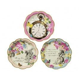 Sada 12 jednorázových talířů Truly Alice Whimsical