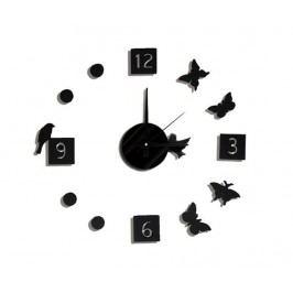 Samolepka s nástěnnými hodinami Birds and Butterflies