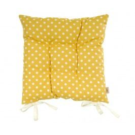 Polštář na sezení Polka Dots Yellow 41x41 cm