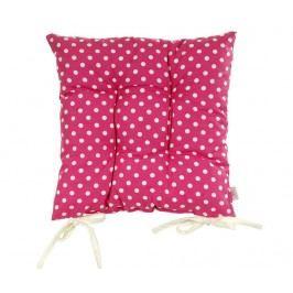 Polštář na sezení Polka Dots Pink 41x41 cm