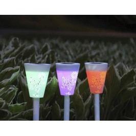 Sada 3 solárních lamp Butterfly