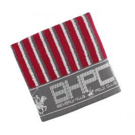 Ručník Stripes Burgundy & Grey 50x100 cm