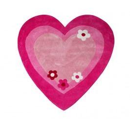 Koberec Pink Heart 100x100 cm