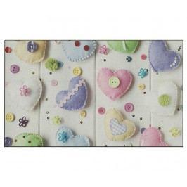 Vchodová rohožka Love and Buttons 45x75 cm