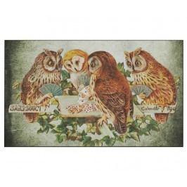 Vchodová rohožka Owls Card Game 45x75 cm