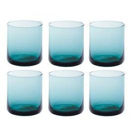 Sada 6 sklenic na vodu Bloom Turquoise 250 ml