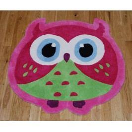 Koberec Owl Pink 80x80 cm