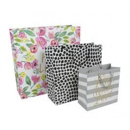 Sada 3 dárkových tašek Flowers and Spots