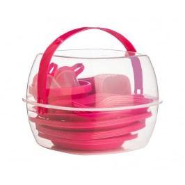 Pikniková sada, 52 ks Fines Pink