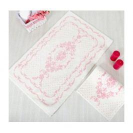 Sada 2 koupelnových předložek Blenda Ecru Pink