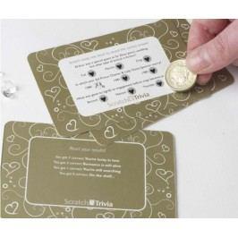 Sada 10 škrabacích kartiček hra Trivia Gold