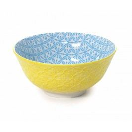 Mísa Quatrefoil Yellow & Blue 500 ml