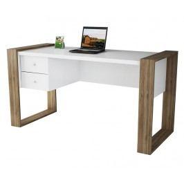 Pracovní stůl Lord White Walnut