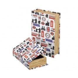 Sada 2 krabic ve tvaru knihy London