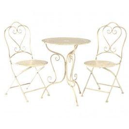 Sada stůl a 2 židle do exteriéru Finchwood Cream