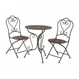 Sada venkovní stůl a 2 židle Finchwood Brown