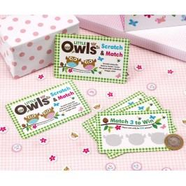 Sada 10 herních karet Little Owls Girl