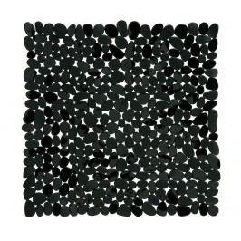 Předložka do vany Pebble Rectangular Black 54x54 cm