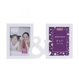 Rám na 2 fotografie Purple