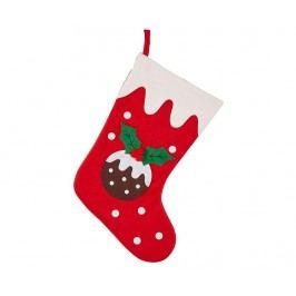 Dekorační ponožka Christmas Pudding