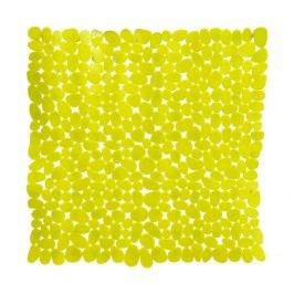 Předložka do vany Pebble Rectangular Yellow 54x54 cm