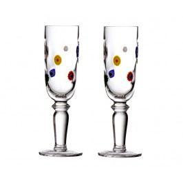 Sada 2 sklenic na šampaňské Flutes