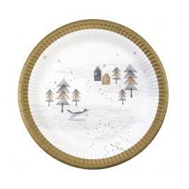 Sada 8 talířů na jednorázové použití Nordic Christmas
