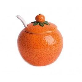Cukřenka s víkem a lžičkou Orange