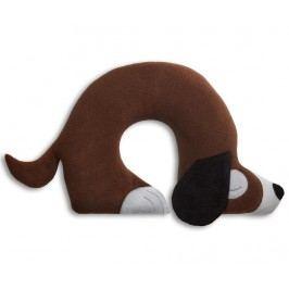 Polštářek za krk Charlie Dog Brown 32x40 cm