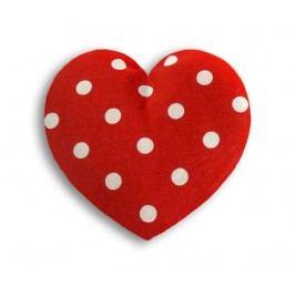Hřejivý polštář Heart Polka 14x14 cm