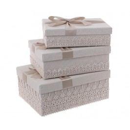 Sada 3 krabic s víkem Bonnie