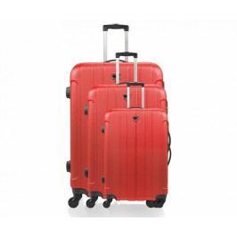 Sada 3 cestovních kufrů na kolečkách Napoli Red