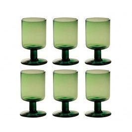 Sada 6 sklenic na víno Bloom Green 200 ml