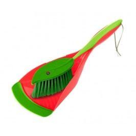 Sada kartáč a lopatka Leaf Red Green