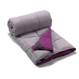 Peřina Combi Grey and Purple 180x220 cm