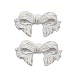 Sada 2 nástěnných dekorací Ribbon Antique White