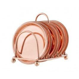 Sada 6 podtácků se stojanem Copper