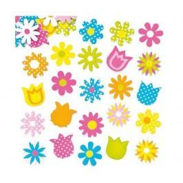 Sada 120 samolepicích dekoraci Floral Multicolor