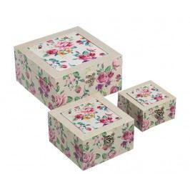 Sada 3 dekoračních krabic Tender