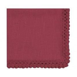 Ubrousek Crochet Bordeaux 40x40 cm
