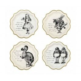 Sada 12 jednorázových talířů Lost Alice