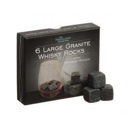 Sada 6 granitových kostek pro whisky Scotch