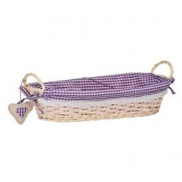 Košík na chléb Gingham Oblong Purple