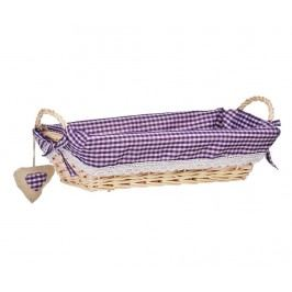 Košík na chléb Gingham Rectangular Purple M