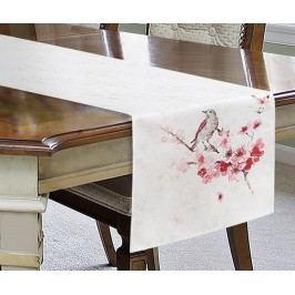 Středový ubrus Aiden Cream Pink 40x180 cm