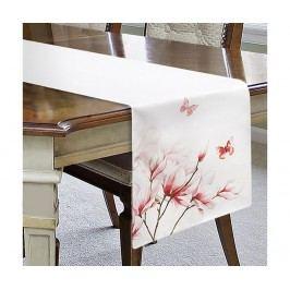Středový ubrus Fleur Cream Pink 40x180 cm